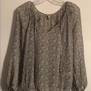 Lucky Brand shear long sleeve blouse